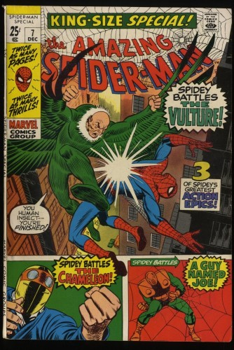 Amazing Spider-Man Annual #7 FN 6.0 Vulture!