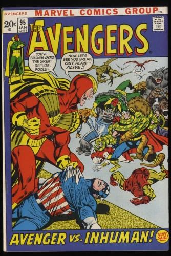Avengers #95 VF 8.0 Marvel Comics Thor Captain America