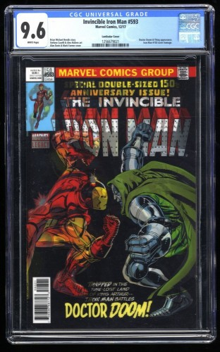 Invincible Iron Man #593 CGC NM+ 9.6 White Pages