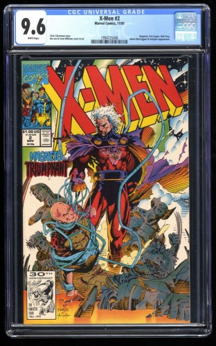 X-Men (1991) #2 CGC NM+ 9.6 White Pages
