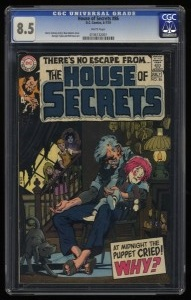 House Of Secrets #86 CGC VF+ 8.5 White Pages DC Comics