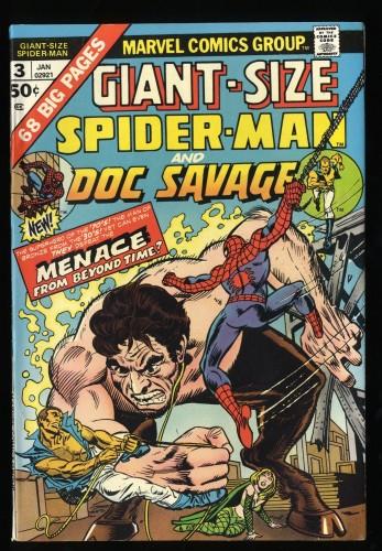 Giant-Size Spider-Man #3 VF 8.0 Doc Savage!