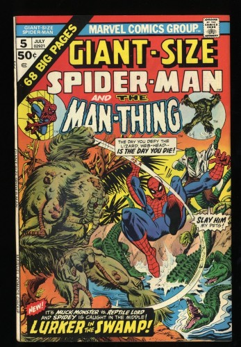 Giant-Size Spider-Man #5 VF 8.0 Man-Thing!