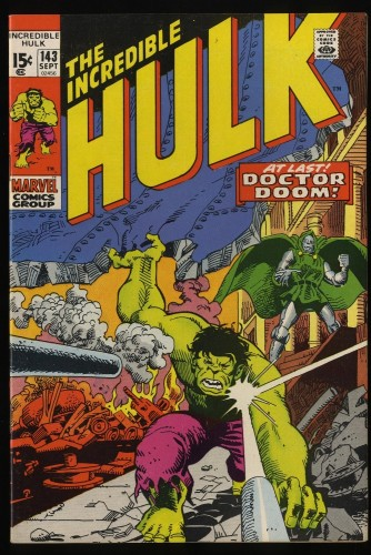 Incredible Hulk (1968) #143 NM- 9.2 Marvel Comics Doctor Doom!