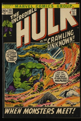 Incredible Hulk (1968) #151 VF 8.0 Marvel Comics