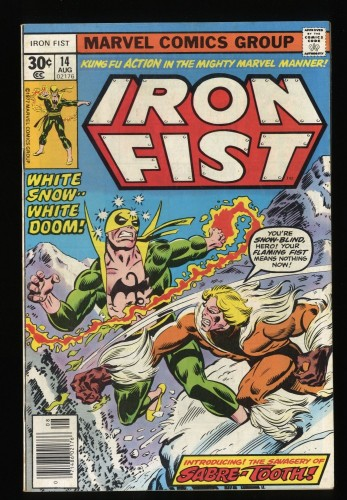 Iron Fist #14 VF 8.0 White Pages (Former CGC VF 8.0) 1st Sabretooth!