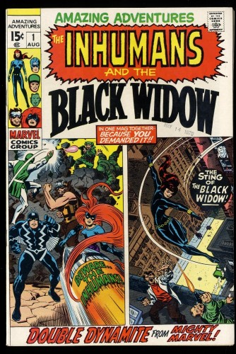 Amazing Adventures #1 VF+ 8.5 Inhumans 1st Black Widow Solo!