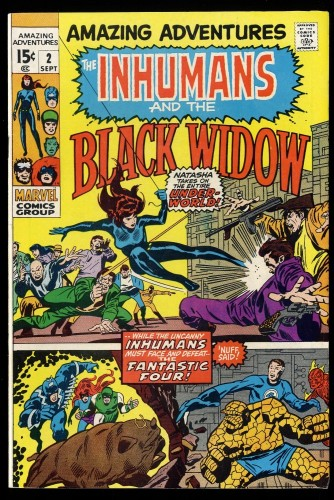 Amazing Adventures #2 VF- 7.5 Inhumans Black Widow!