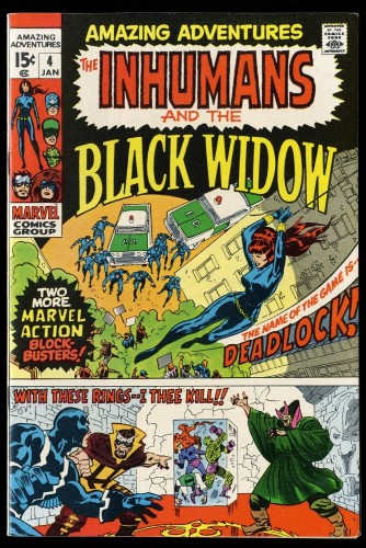 Amazing Adventures #4 VF 8.0 Inhumans Black Widow!