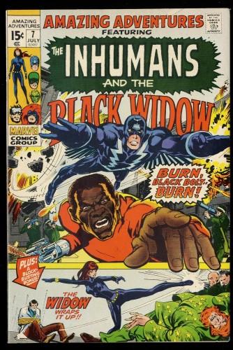 Amazing Adventures #7 NM- 9.2 Inhumans Black Widow!