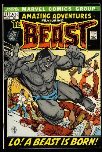 Amazing Adventures #11 VF+ 8.5 1st Furry Beast! (Former CGC VF/NM 9.0)