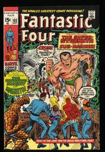 Fantastic Four #102 VF 8.0 Marvel Comics