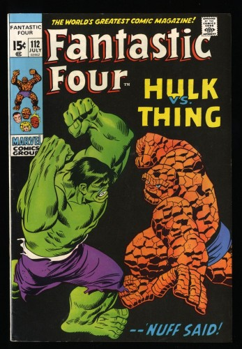 Fantastic Four #112 VF- 7.5 White Pages (Hulk Vs Thing!) (Former CGC VF- 7.5)