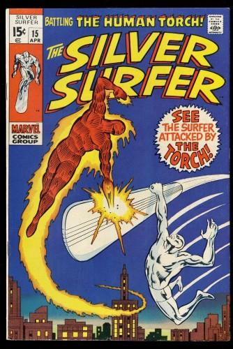 Silver Surfer #15 VF- 7.5 Marvel Comics VS Human Torch!