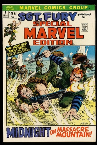 Special Marvel Edition #5 NM 9.4 Sgt. Fury!