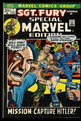 Special Marvel Edition #7 FN/VF 7.0 Sgt. Fury! Hitler Cover!