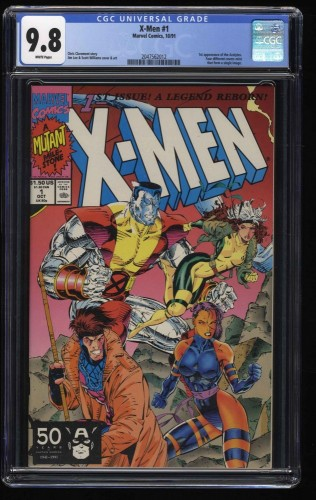 X-Men (1991) #1 CGC NM/M 9.8 White Pages Colossus Gambit Cover!