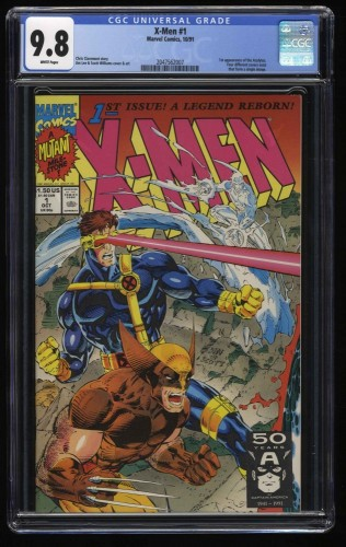 X-Men (1991) #1 CGC NM/M 9.8 White Pages Wolverine Cyclops Cover!
