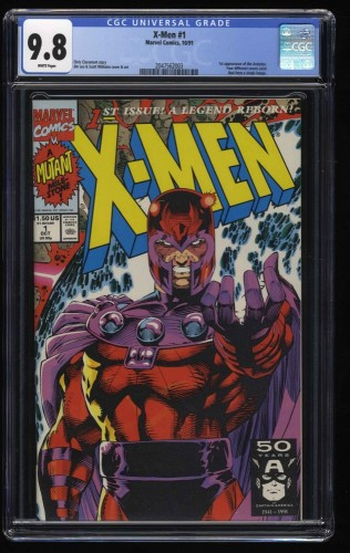 X-Men (1991) #1 CGC NM/M 9.8 White Pages Magneto Cover!