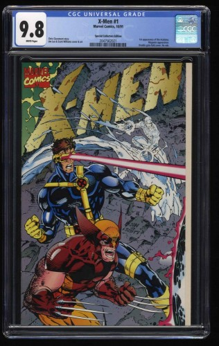 X-Men (1991) #1 CGC NM/M 9.8 White Pages Special Collectors Edition!
