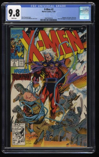 X-Men (1991) #2 CGC NM/M 9.8 White Pages