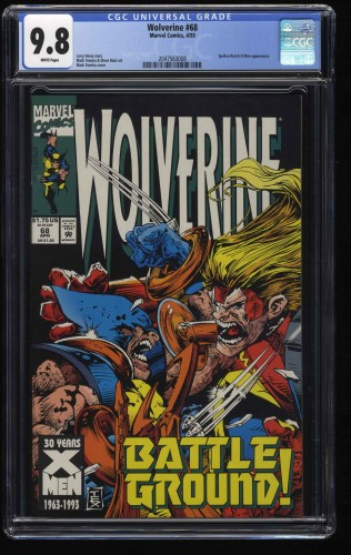 Wolverine (1988) #68 CGC NM/M 9.8 White Pages