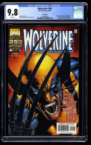 Wolverine (1988) #145 CGC NM/M 9.8 White Pages Silver Foil Variant Cover