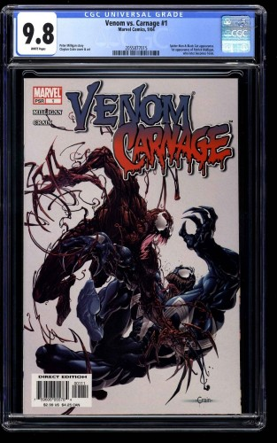 Venom vs. Carnage #1 CGC NM/M 9.8 White Pages
