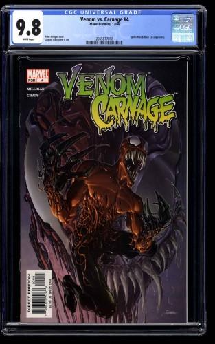 Venom vs. Carnage #4 CGC NM/M 9.8 White Pages