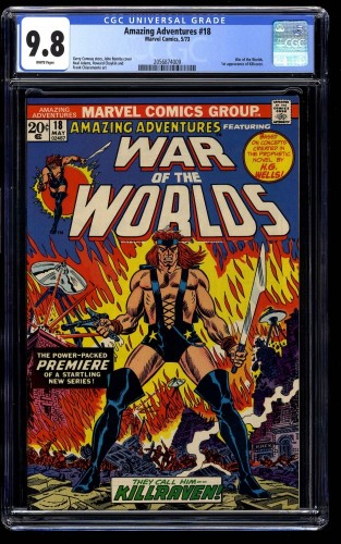 Amazing Adventures #18 CGC NM/M 9.8 White Pages 1st Killraven!