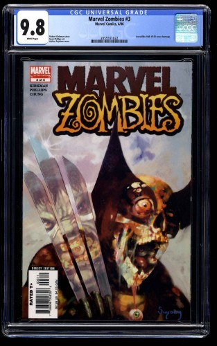 Marvel Zombies #3 CGC NM/M 9.8 White Pages Incredible Hulk #340 Cover Swipe!