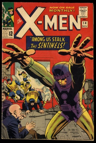 X-Men #14 FN- 5.5 Marvel Comics 1st Sentinels!