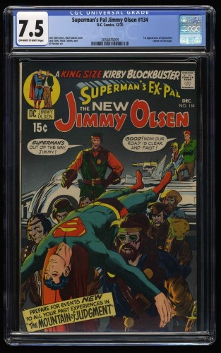 Superman's Pal, Jimmy Olsen #134 CGC VF- 7.5 Off White to White 1st Darkseid!