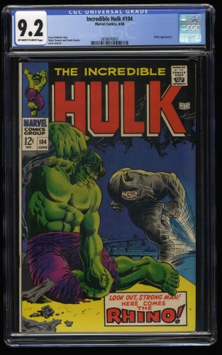 Incredible Hulk (1968) #104 CGC NM- 9.2 Off White to White Marvel Comics
