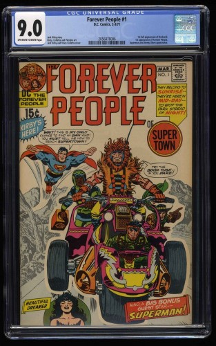 Forever People #1 CGC VF/NM 9.0 Off White to White 1st Full Darkseid!