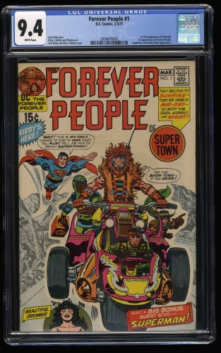 Forever People #1 CGC NM 9.4 White Pages 1st Full Darkseid!