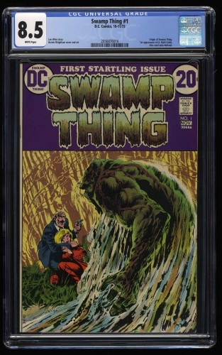 Swamp Thing #1 CGC VF+ 8.5 White Pages