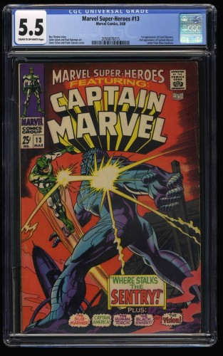 Marvel Super-Heroes #13 CGC FN- 5.5 Comics 1st Carol Danvers!
