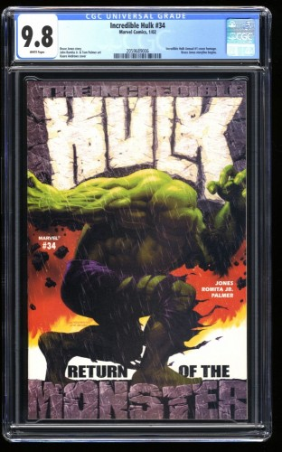 Incredible Hulk (2000) #34 CGC NM/M 9.8
