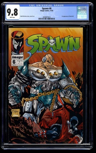 Spawn #6 CGC NM/M 9.8 White Pages 1st Overt-Kill!