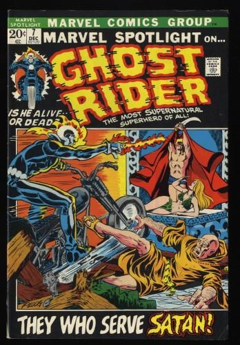 Marvel Spotlight #7 FN+ 6.5 Comics 3rd Ghost Rider!
