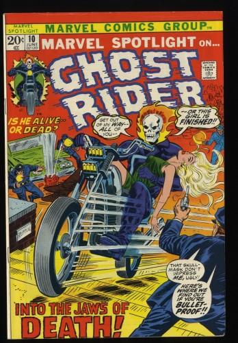 Marvel Spotlight #10 FN 6.0 Comics Ghost Rider!