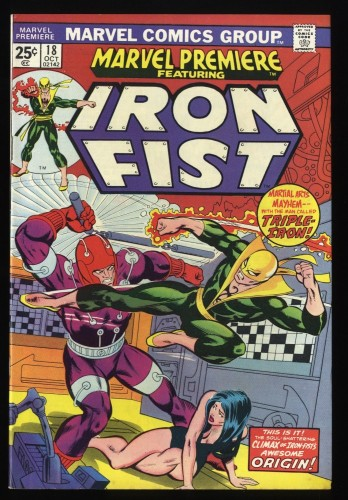 Marvel Premiere #18 VF 8.0 Comics Mark Jewelers Insert Iron Fist!