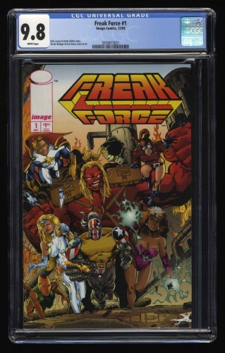 Freak Force #1 CGC NM/M 9.8 White Pages SOLO Highest Graded!