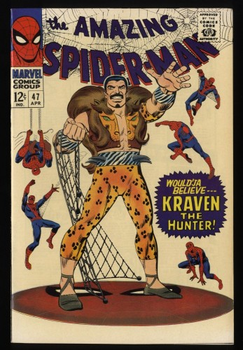 Amazing Spider-Man #47 VF/NM 9.0 Kraven the Hunter! Marvel Comics Spiderman