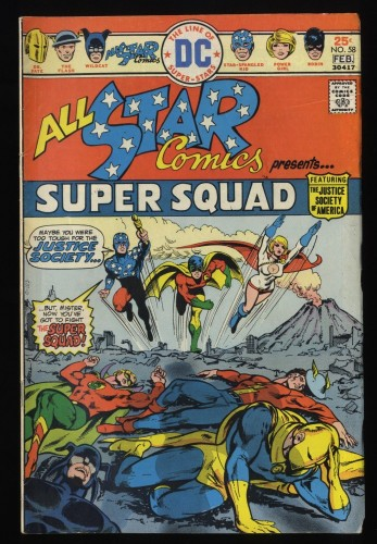 All-Star Comics #58 VG- 3.5 1st Power Girl!