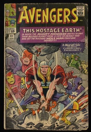 Avengers #12 FA/GD 1.5 Marvel Comics Thor Captain America
