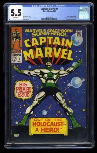 Captain Marvel #1 CGC FN- 5.5 Off White 2nd Carol Danvers!