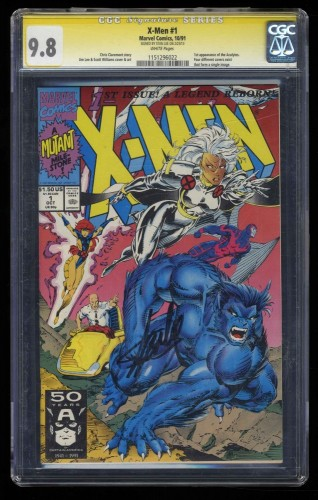 X-Men (1991) #1 CGC NM/M 9.8 White Pages SS Signed Stan Lee Storm Beast Cover