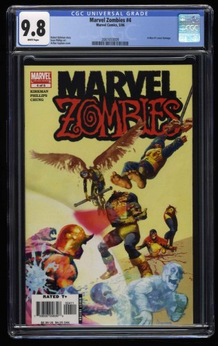 Marvel Zombies #4 CGC NM/M 9.8 White Pages X-Men #1 Cover Swipe!